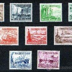 Sellos: ALEMANIA III REICH AÑO 1937 YV 594/62* AYUDA DE INVIERNO - BARCOS - TRANSPORTES. Lote 27401299