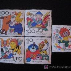 Sellos: ALEMANIA FEDERAL 1998 IVERT 1822/6 *** POR LA JUVENTUD - PERSONAJES DE DIBUJOS ANIMADOS. Lote 20704545