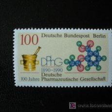 Sellos: BERLIN 1990 IVERT 836 *** CENTENARIO SOCIEDAD FARMACEÚTICA ALEMANA. Lote 16298642