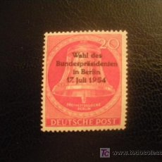Sellos: BERLIN 1954 IVERT 108 *** ELECCIÓN PRESIDENCIAL. Lote 16455576