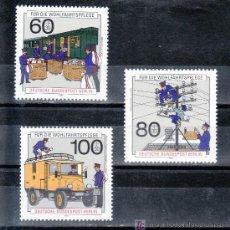 Sellos: ALEMANIA-BERLIN 837/9 SIN CHARNELA, HISTORIA DEL CORREOS Y TELECOMUNICACIONES . Lote 19950479