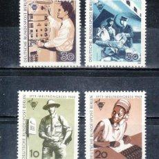 Sellos: ALEMANIA-BERLIN 314/7 SIN CHARNELA, 20º CONGRESO INTERNACIONAL PERSONAL CORREOS Y TELECOMUNICACIONES. Lote 17986928