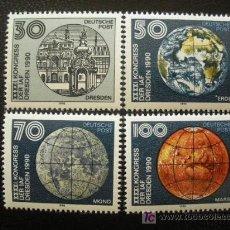 Sellos: ALEMANIA ORIENTAL DDR 1990 IVERT 2965/8 *** 41º CONGRESO FEDERACIÓN INTERNACIONAL DE ASTRONAÚTICA. Lote 18248352