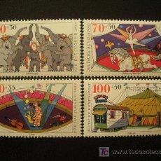 Sellos: ALEMANIA FEDERAL 1989 IVERT 1243/6 *** POR LA JUVENTUD - EL CIRCO. Lote 19564461