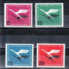 Sellos: ALEMANIA-FEDERAL 81/4 CON CHARNELA, REAPERTURA DE LA COMPAÑIA AEREA LUFTHANSA . Lote 20120160