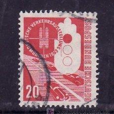 Sellos: ALEMANIA-FEDERAL 55 USADA, AUTOMOVIL, EXPOSICION DE LOS TRANSPORTES DE MUNICH, . Lote 23113864
