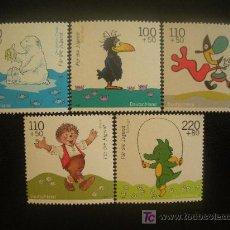 Sellos: ALEMANIA FEDERAL 1999 IVERT 1887/91 *** POR LA JUVENTUD - PERSONAJES DE DIBUJOS ANIMADOS. Lote 19961866