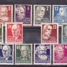 Sellos: ALEMANIA-DDR-ZONA-SOVIETICA-OCUPACION-EMISION-GENERAL 32/47 SIN CHARNELA, PERSONAJES . Lote 21662259
