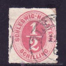 Sellos: ALEMANIA-ANTIGUOS-ESTADOS-SCHLESWIG-HOLSTEIN DUCHE 3 USADA,. Lote 21565280