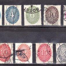 Sellos: ALEMANIA SERVICIO 86/92, 86A, 89A USADA,. Lote 21503526