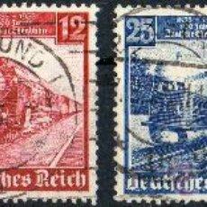 Sellos: ALEMANIA III REICH AÑO 1935 YV 539/42ºº CENTº DE LOS FERROCARRILES ALEMANES - TRANSPORTES. Lote 26951147