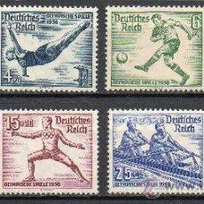 Sellos: ALEMANIA III REICH AÑO 1936 YV 565/72*** JUEGOS OLÍMPICOS BERLÍN - DEPORTES - ATLETISMO - CABALLOS. Lote 26995787
