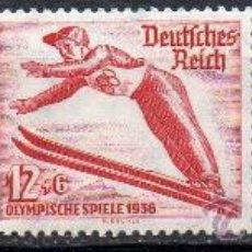 Sellos: ALEMANIA III REICH AÑO 1935 YV 559/61* JUEGOS OLÍMPICOS DE INVIERNO - DEPORTES - ESQUÍ - PATINAJE. Lote 26995789
