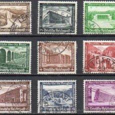 Sellos: ALEMANIA III REICH AÑO 1936 YV 582/90ºº AYUDA DE INVIERNO - ARQUITECTURA - PUENTES. Lote 26995791