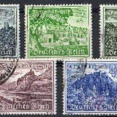 Sellos: ALEMANIA III REICH AÑO 1939 YV 654/62ºº AYUDA DE INVIERNO - VISTAS Y PAISAJES - TURISMO. Lote 27033789