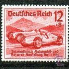 Sellos: ALEMANIA III REICH AÑO 1939 YV 627/29*** SALÓN INTERNACIONAL DEL AUTOMÓVIL EN BERLÍN - TRANSPORTES. Lote 27099552