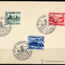Sellos: ALEMANIA III REICH AÑO 1939 YV 627/29 SPD - SALÓN INTERNACIONAL DEL AUTOMÓVIL DE BERLÍN. Lote 27236690