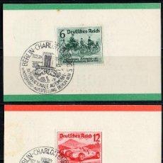 Sellos: ALEMANIA III REICH AÑO 1939 YV 627/29 - 3 TPD SALÓN INTERNACIONAL DEL AUTOMÓVIL DE BERLÍN. Lote 27099555