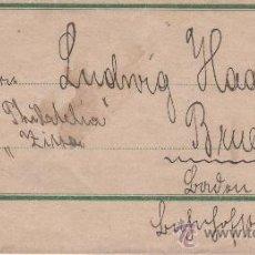 Sellos: SOBRE FECHADO EN ZITTAU 15 DICIEMBRE 1890. Lote 24322648