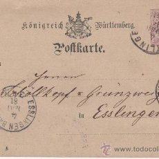 Sellos: REINO DE WÜRTTEMBER - GREUTLINGEN - ESSLINGEN - 4 MAYO 1881. Lote 27213198