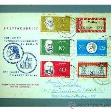 Sellos: SOBRE PRIMER DIA - UNIVERSIDAD HUMBOLDT DE BERLIN - ALEMANIA DEMOCRATICA AÑO 1960 - CIRCULADA. Lote 26629801
