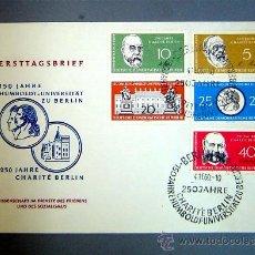 Sellos: SOBRE PRIMER DIA - UNIVERSIDAD HUMBOLDT DE BERLIN - ALEMANIA DEMOCRATICA AÑO 1960 - CIRCULADA. Lote 26629798