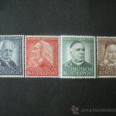 Briefmarken - Alemania Federal 1953 Ivert 59/62 *** En Honor a Benefactores de la Humanidad - Personajes - 25935144