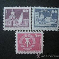 Sellos: ALEMANIA ORIENTAL DDR 1981 IVERT 2303/5 *** SERIE BÁSICA - CONSTRUCCIONES SOCIALISTAS - MONUMENTOS. Lote 26629786