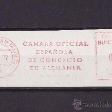 Sellos: FRANQUEO MECANICO FRAGMENTO CAMARA OFICIAL DE COMERCIO ESPAÑOLA EN ALEMANIA 1972 FRANKFURT. Lote 26733435