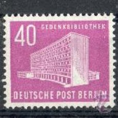 Sellos: ALEMANIA BERLÍN AÑO 1954 YV 99/102* SERIE BÁSICA - MONUMENTOS - ARQUITECTURA. Lote 27129230