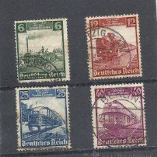 Sellos: ALEMANIA IMPERIO 1935 CENTENARIO FERROCARRILES ALEMANES YVERT Nº 539/542. Lote 27487720