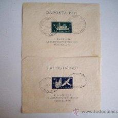 Sellos: EXCELENTES HOJITAS DAPOSTA 1937 EN NUEVO** MATASELLOS PRIMER DIA DE CIRCULACION MUY RARAS. Lote 28560398