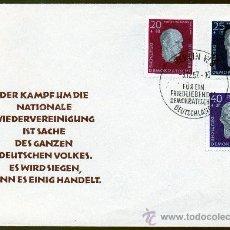 Sellos: ALEMANIA ORIENTAL DDR AÑO 1957 YV 333/35 SPD HOMENAJE A LÍDERES SOCIALISTAS - PERSONAJES. Lote 28853116