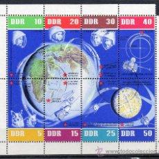 Sellos: ALEMANIA ORIENTAL DDR AÑO 1962 YV HB 12*º 5º ANVº VUELOS ESPACIALES SOVIÉTICOS - ASTRONÁUTICA. Lote 28853236
