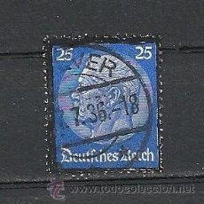 Sellos: ALEMANIA 1934, YVERT Nº 508, MUERTE DEL PRESIDENTE HINDENBURG. MATASELLADO. Lote 30522140
