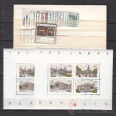 Sellos: ALEMANIA BERLIN 733/58, HB8 SIN CHARNELA, AÑO 1987 VALOR CAT 63.45 € +. Lote 32725932