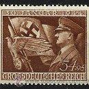 Sellos: SERIE COMPLETA 1944 11 JAHRESTAG DER MACHTERGREIFUNG HITLERS MI 865 ** TERCER REICH WW2. Lote 39310611