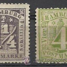 Sellos: OCASION SELLOS SIN GOMA DE HAMBURGO Nº 4 Y 8 DE 1859/1864 MUY ALTO VALOR DE CATALOGO . Lote 33504832