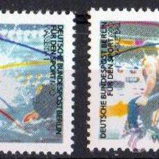 Sellos: ALEMANIA BERLÍN AÑO 1990 YV 825/26*** PRO DEPORTES - WATERPOLO - BALONCESTO. Lote 34996177