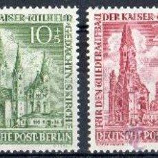 Sellos: ALEMANIA BERLÍN AÑO 1953 YV 92/95*** RECONSTRUCCIÓN IGLESIA DEL EMPERADOR GUILLERMO - ARQUITECTURA. Lote 34998625