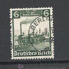 Sellos: ALEMANIA IMPERIO 1935 CENTENARIO FERROCARRILES ALEMANES YVERT Nº 539. Lote 35821167