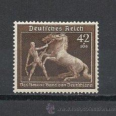 Sellos: ALEMANIA IMPERIO 1939, YVERT Nº 639*, TEMA CABALLOS. FIJASELLOS. Lote 36882057
