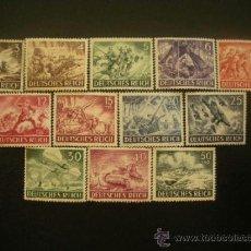 Sellos: ALEMANIA III REICH 1943 IVERT 748/59 *** DÍA DE LOS HERORES (I). Lote 37972259