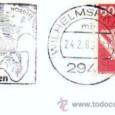 Sellos: MATASELLOS CONMEMORATIVO DE WILHELMSHAVEN 24/02/83 HAT DAS MEER INS HERZ GESCHLOSSEN. Lote 38096157