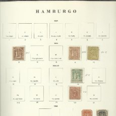 Sellos: OPORTUNIDAD IMPORTANTE Y ANTIGUA COLECCION DE HAMBURGO ALEMANIA ALTO VALOR . Lote 38803700