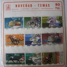 Sellos: LOTE 9 SELLOS ALEMANIA ORIENTAL - DDR - OLIMPIADAS 1976 Y CONGRESO CRIA DE CABALLOS 1974. Lote 39354837