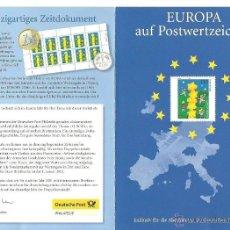 Sellos: SELLOS DE ALEMANIA MICHEL 2114 PRIMER DÍA EDICIÓN ESPECIAL PARA SUSCRIPTORES TEMA EUROPA. Lote 40465034