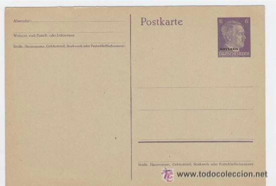 TARJETA PREFRANQUEADA DE HITLER. ORIGINAL (Sellos - Extranjero - Europa - Alemania)