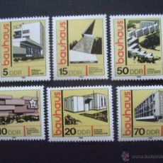 Sellos: ALEMANIA DDR Nº YVERT 2169/4***, AÑO 1979.ESTILO DE CONSTRUCCION BAUHAUS.ARQUITECTOS Y EDIFICIOS. Lote 240441655