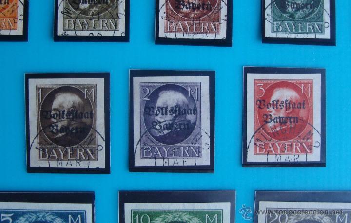 Sellos: SELLOS DE ALEMANIA BAYERN MICHEL 116 IIB AL 133 IIB, 134B Y 135B - Foto 4 - 43041110